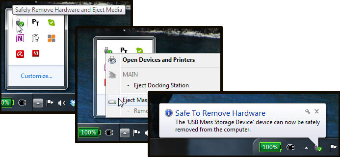 remove a usb drive from a computer