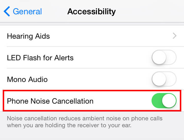 disable phone noise cancellation