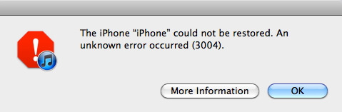fix itunes unknown error 3004
