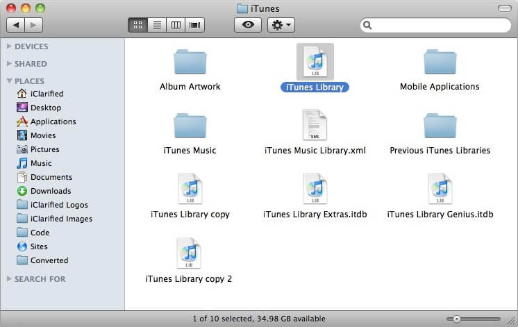 iTunes Library.itl file is locked