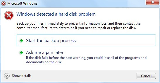 fix windows hard disk error
