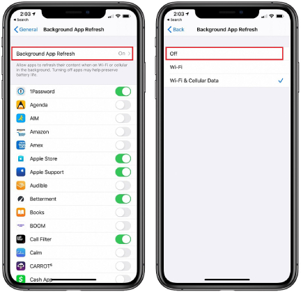 how to turn off background data iphone 6