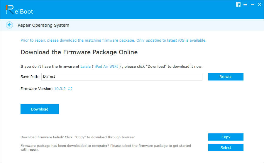 download ipad firmware