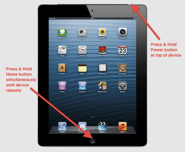 force restart ipad