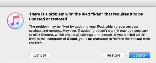 restore ipad in itunes to fix apple logo stuck
