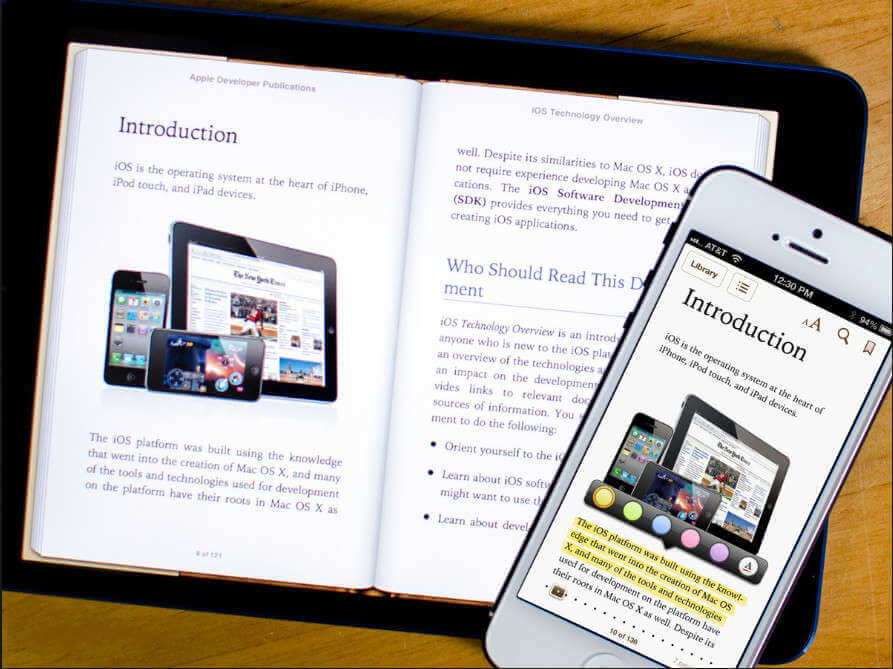 ibooks from ipad to iphone