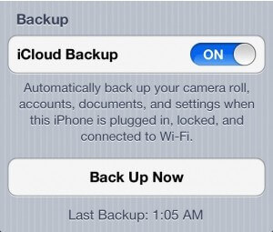 Icloud backup without wifi