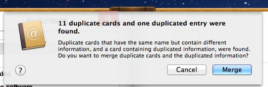 merge duplicate contacts from address book
