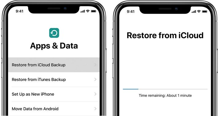migrate old iphone data to new iphone