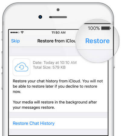 restore to iphone
