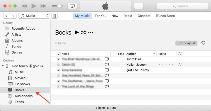sync pdf file using itunes