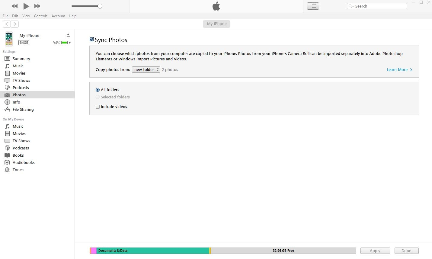 transfer with itunes