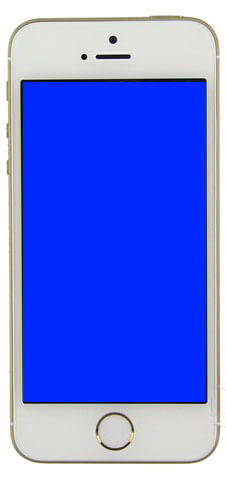 iphone is stuck on blue screen of death
