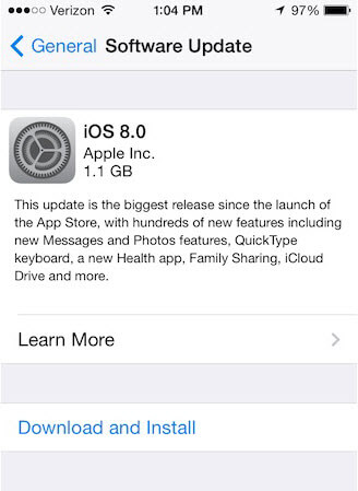 how to download ios 8