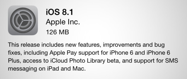 ios 8.1 improvements