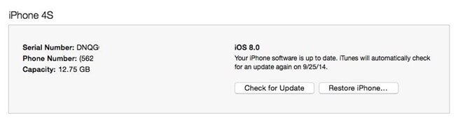 iphone stuck in recovery mode ios 8 update