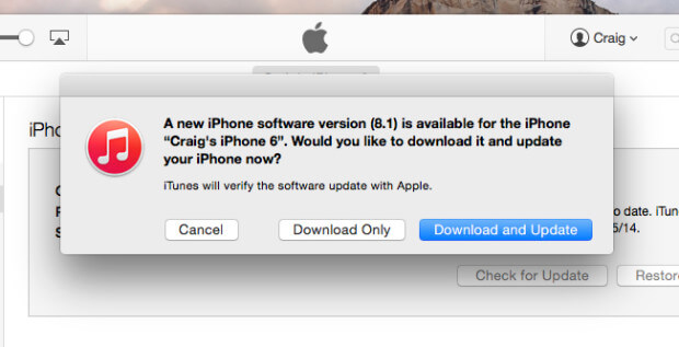 how to update to ios 8.1