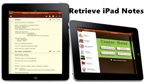 retrieve ipad notes