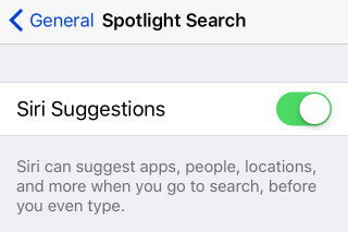 disable siri suggestions