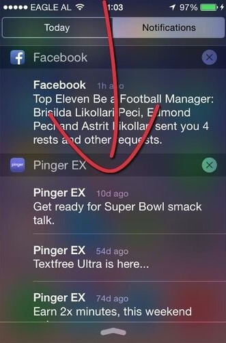 how to access notification center