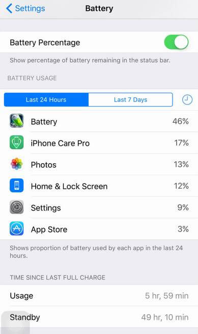 best way to preserve battery life for iphone 6s