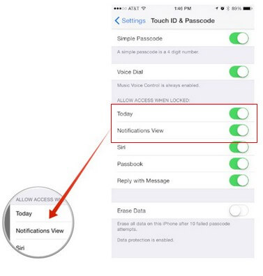 how to disable control center access