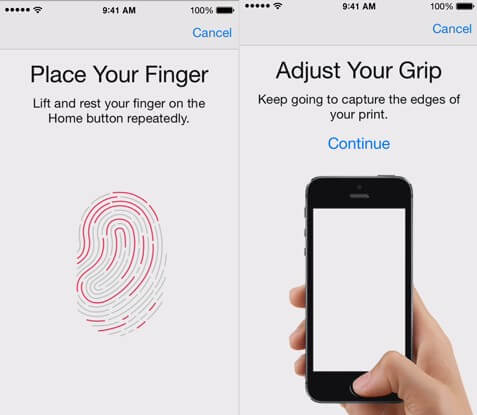 how to set up touch id on iphone 6