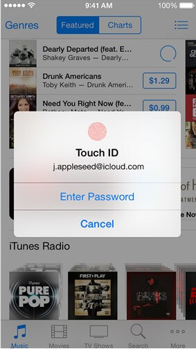 how to use touch id on iphone 6