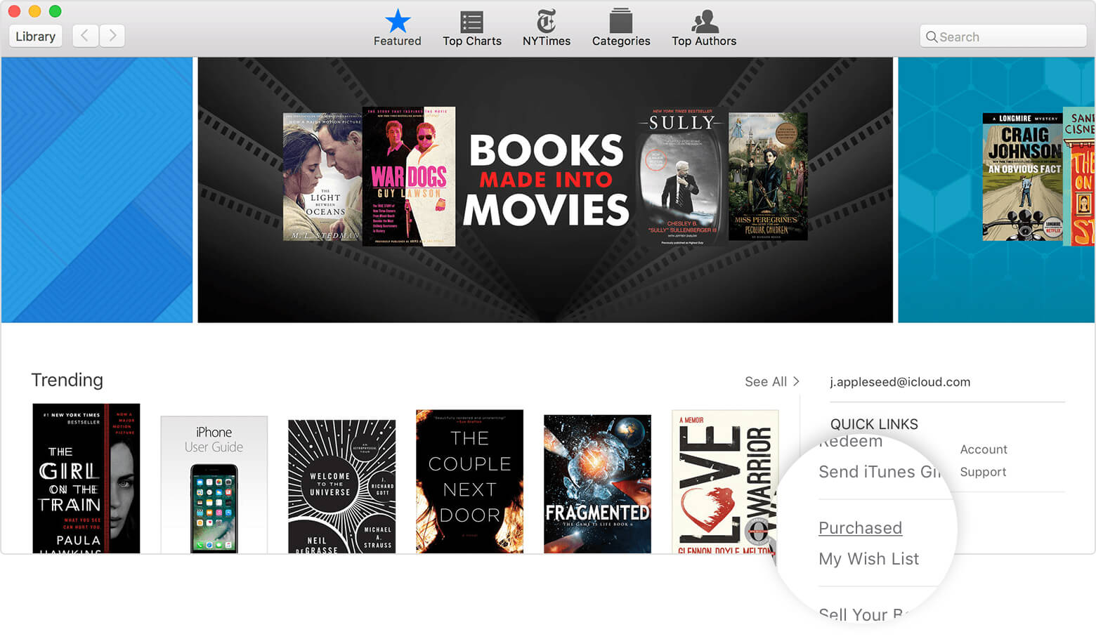 ibooks purchased