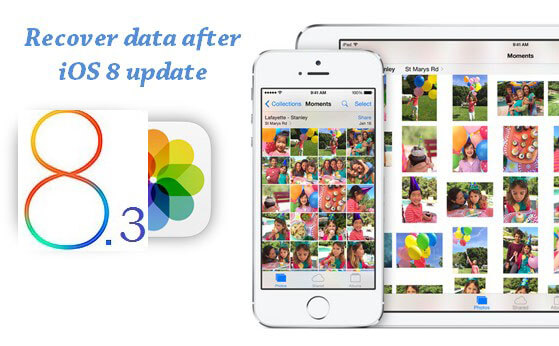 recover data after ios 8.3 update