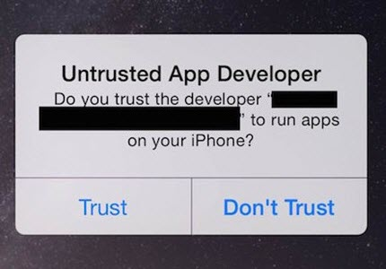 no untrusted app