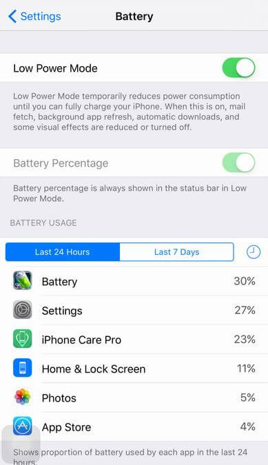 keep iphone 6s/6s plus battery healthy