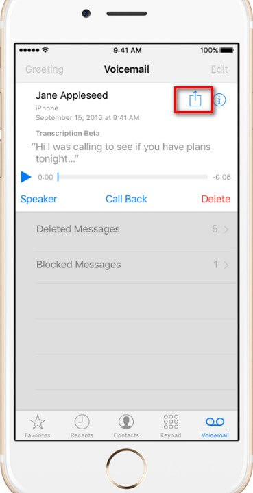 how to stop voicemail on iphone 6 plus