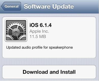 how to update apple ios 6.1.4 on iphone 5