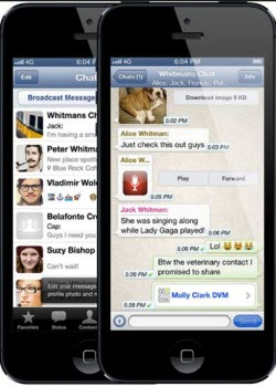 backup iphone whatsapp chat log