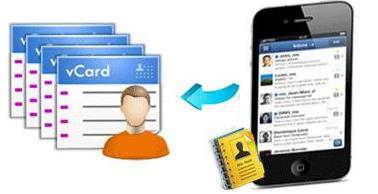 export iphone contacts in vcard format