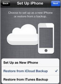 transfer iphone 4 to iphone 5 icloud