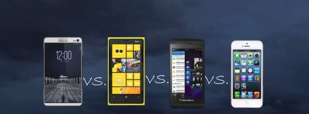 Galaxy S4 VS Lumia 920 VS Blackberry Z10 VS iPhone 5