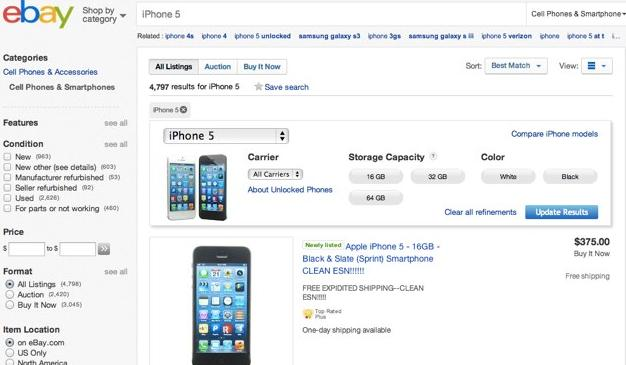 sell old iphone on ebay