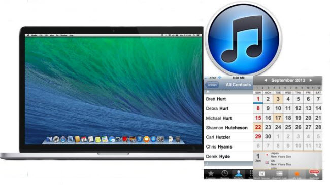 sync contacts to mac in os x mavericks