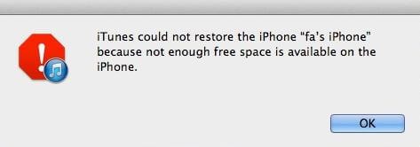 cannot restore iphone from itunes