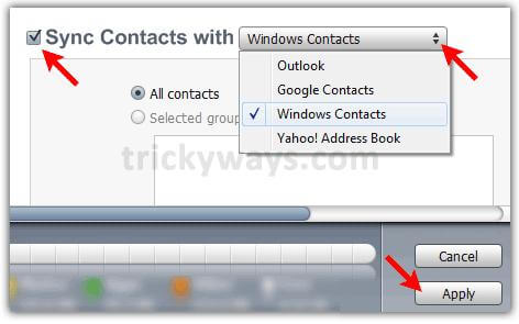 transfer ipod touch contacts to computer