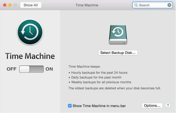 open time machine on mac