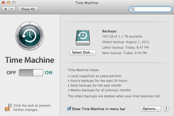 time machine backup files
