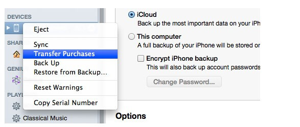 backup apps with itunes