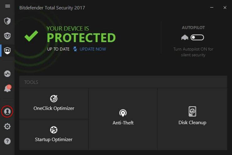 bitdefender 2017 interface