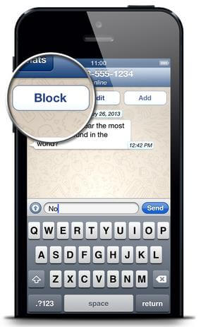 block whatsapp contacts iphone