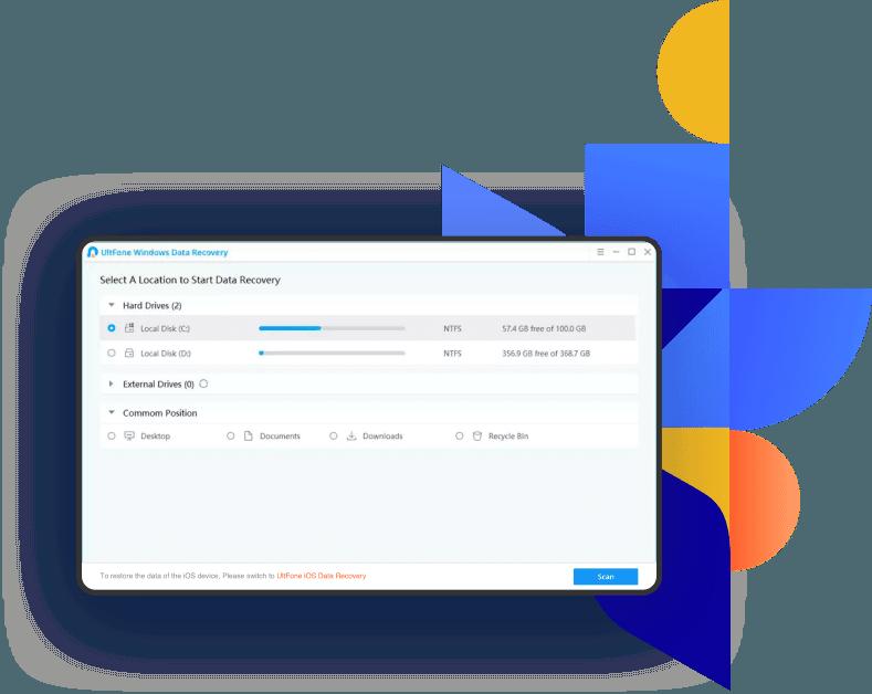 utfone windows data recovery locations